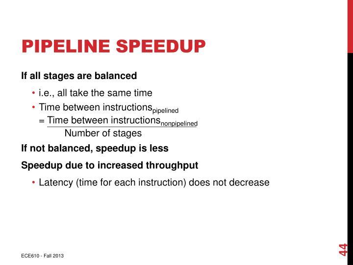 Pipeline Speedup