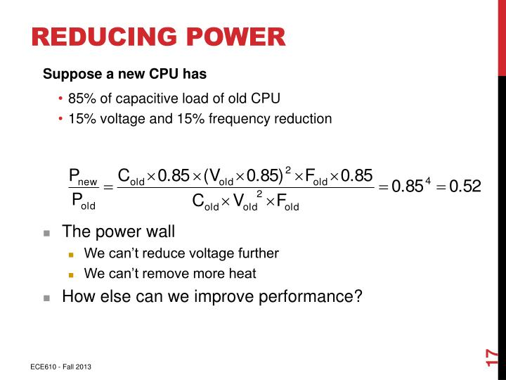 Reducing Power