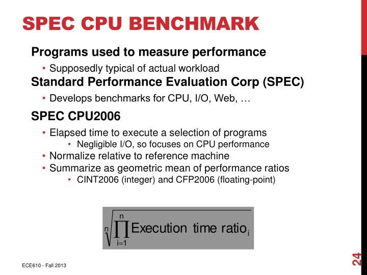 SPEC CPU Benchmark