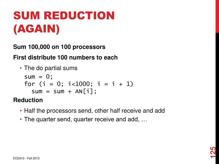Sum Reduction (Again)