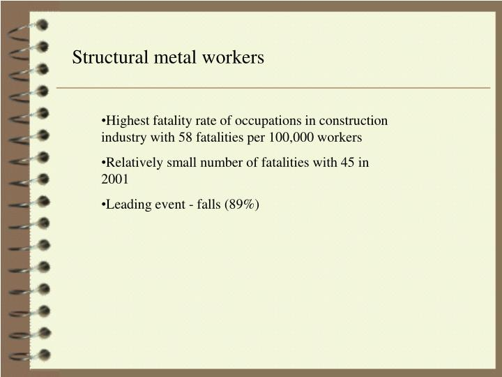 Structural metal workers