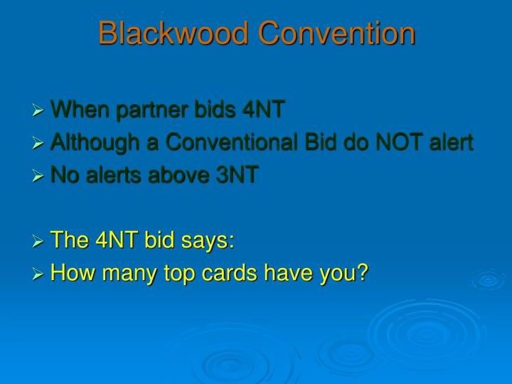 Blackwood convention