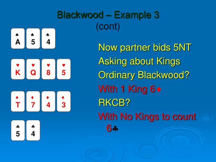 Blackwood – Example 3