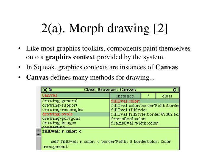 2(a). Morph drawing [2]