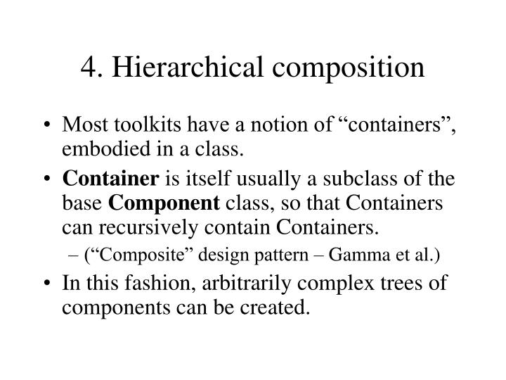 4. Hierarchical composition
