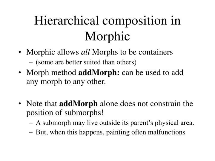 Hierarchical composition in Morphic