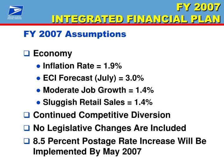 FY 2007 Assumptions
