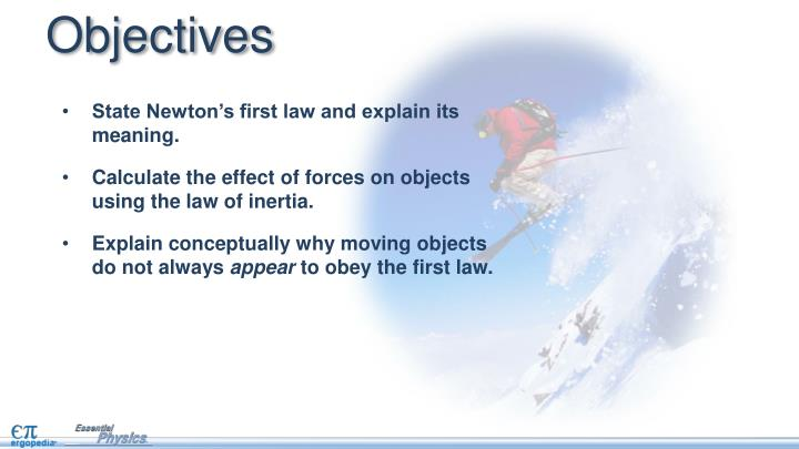 State Newton's first law and explain its meaning.