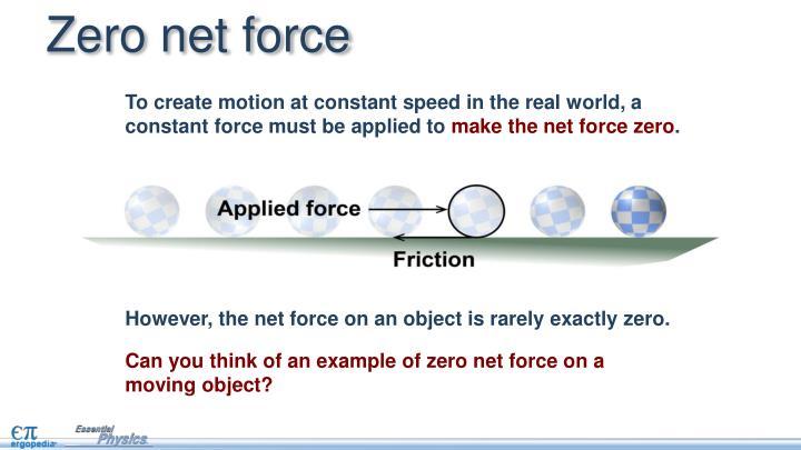 Zero net force