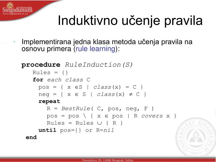 Induktivno učenje pravila
