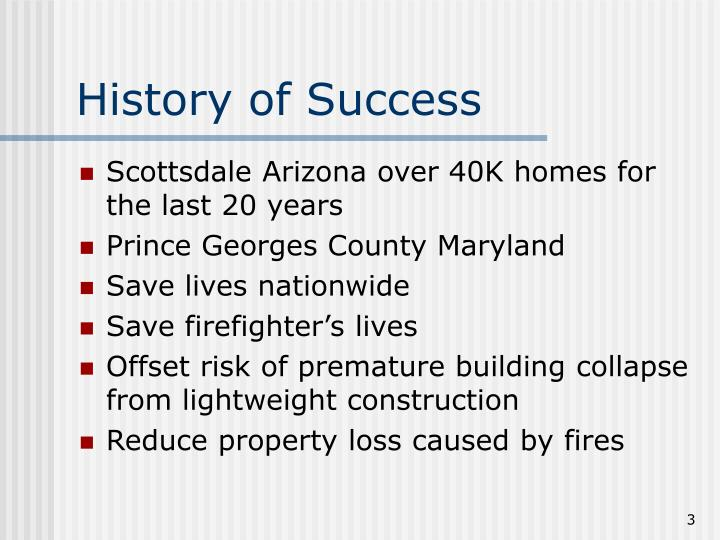 History of Success