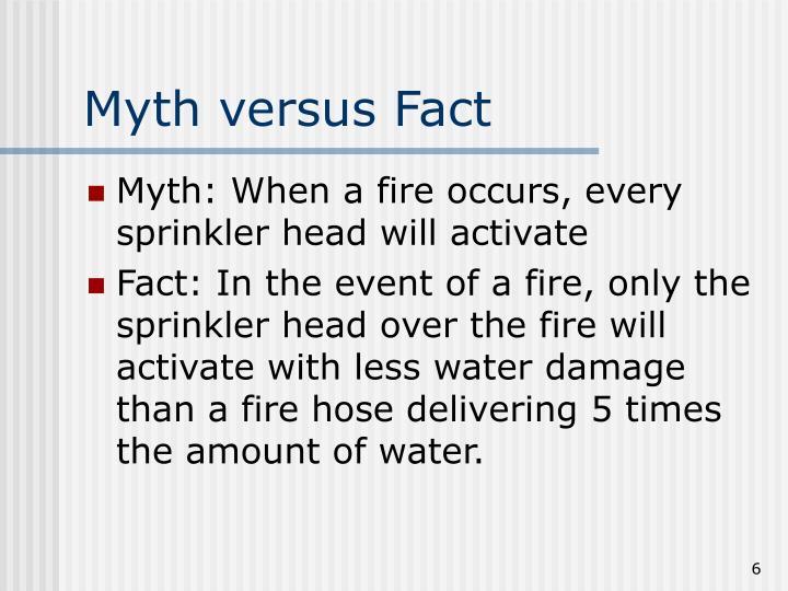 Myth versus Fact