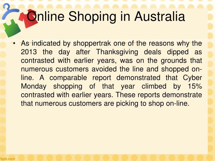 Online Shoping in Australia