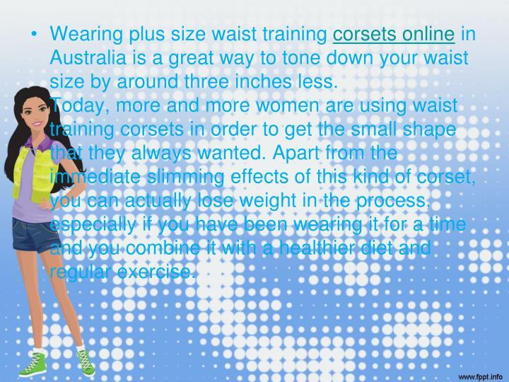 Wearing plus size waist training