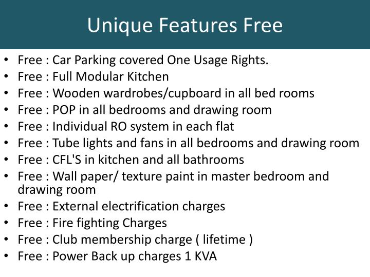 Unique Features Free