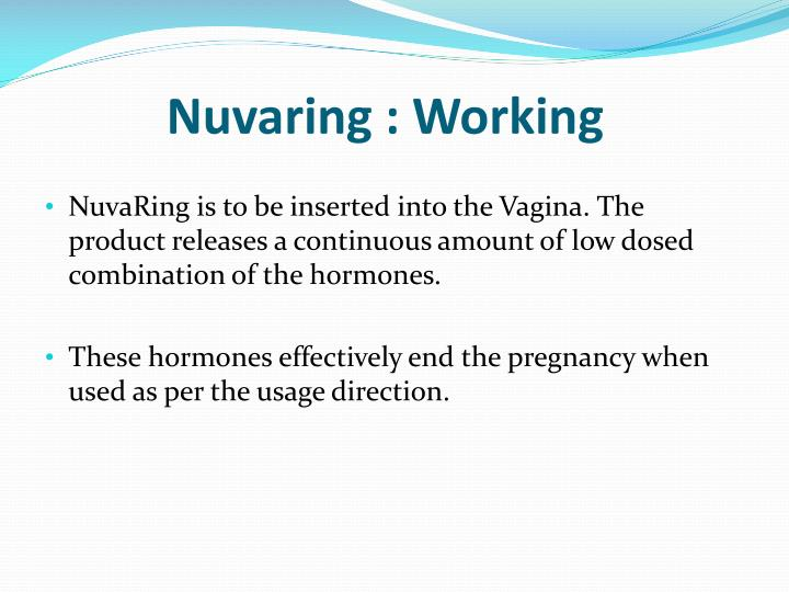 Nuvaring working