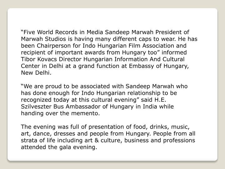 """Five World Records in Media"