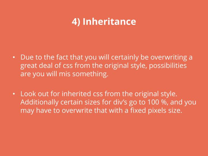 4) Inheritance