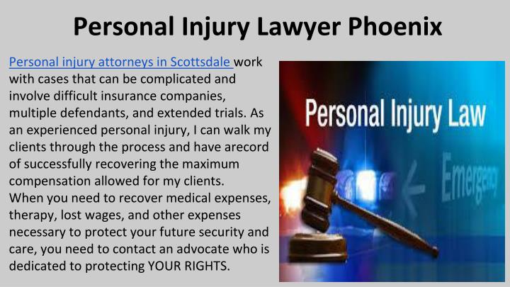 Personal Injury Lawyer Phoenix