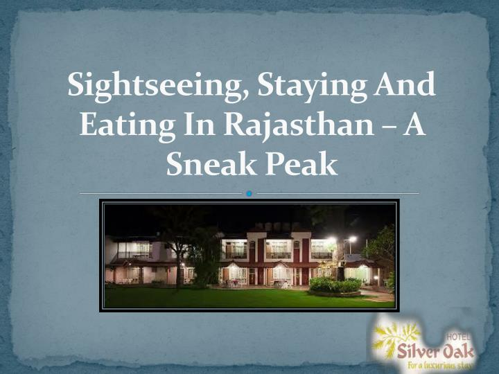 sightseeing staying and eating in rajasthan a sneak peak