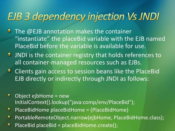 EJB 3 dependency