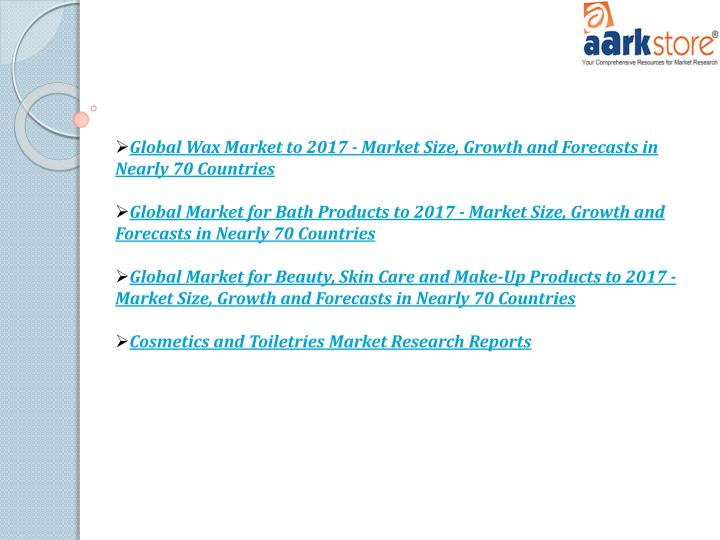 Global Wax Market to 2017 - Market Size, Growth and Forecasts in Nearly 70