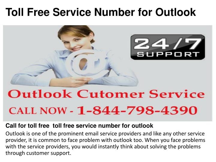 toll free service number for outlook