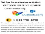 toll free service number for outlook3