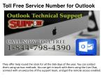 toll free service number for outlook4
