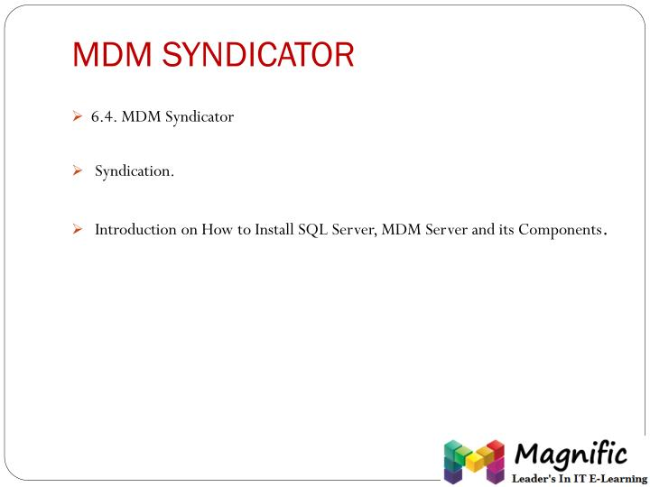 MDM SYNDICATOR
