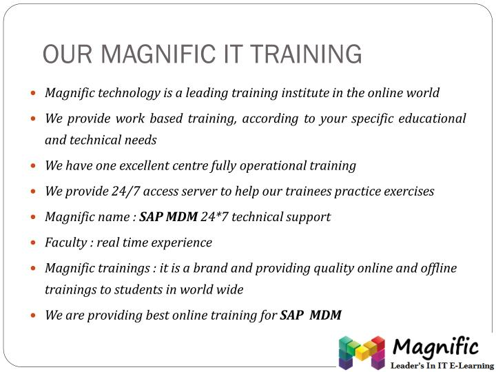 OUR MAGNIFIC IT TRAINING