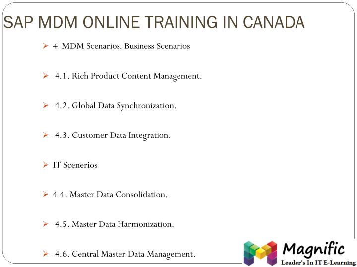 SAP MDM ONLINE TRAINING IN CANADA