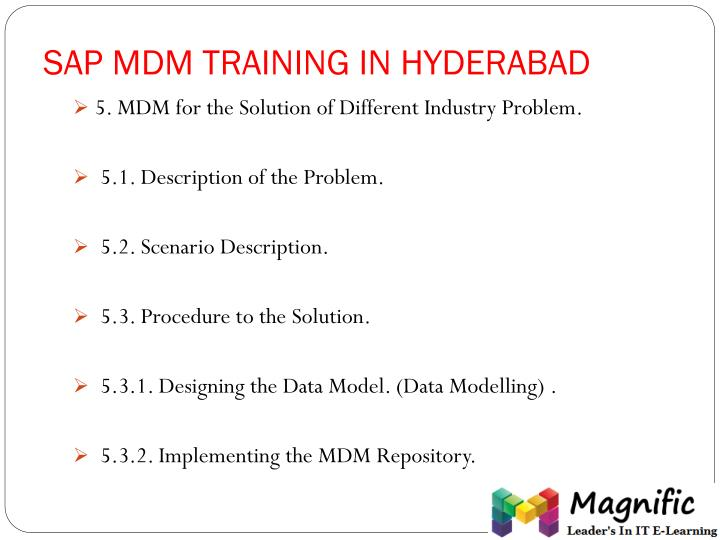 SAP MDM TRAINING IN HYDERABAD