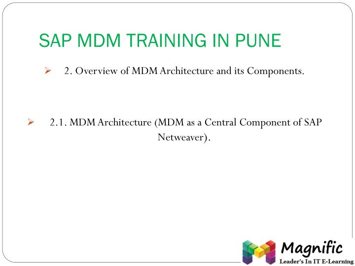 SAP MDM TRAINING IN PUNE