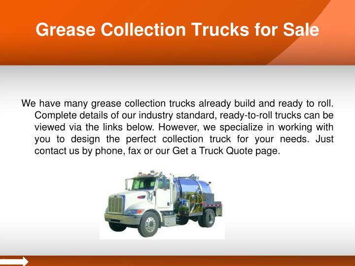 Grease collection trucks for sale1