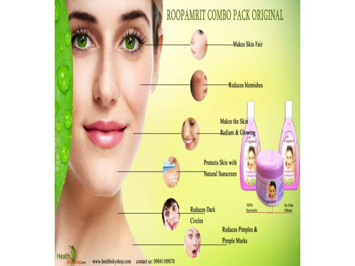Beautiful glowing skin with roop amrit fairness cream