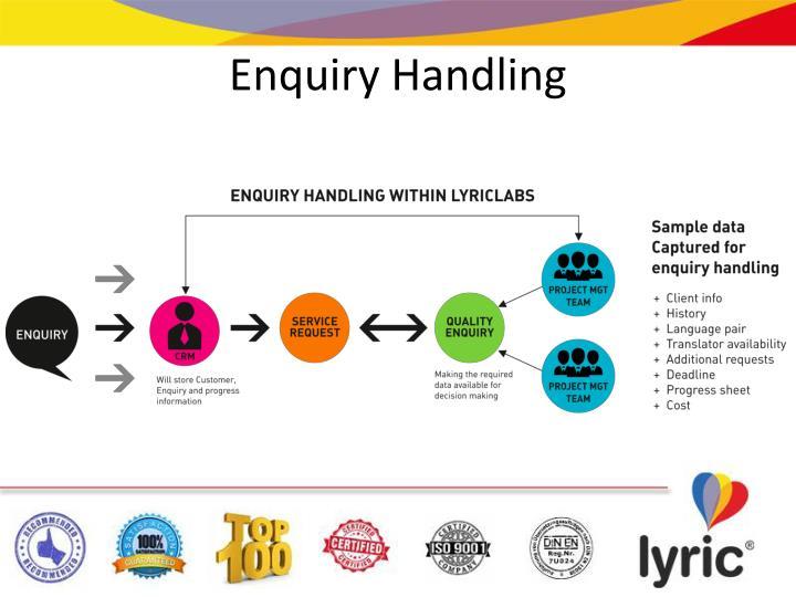 Enquiry Handling