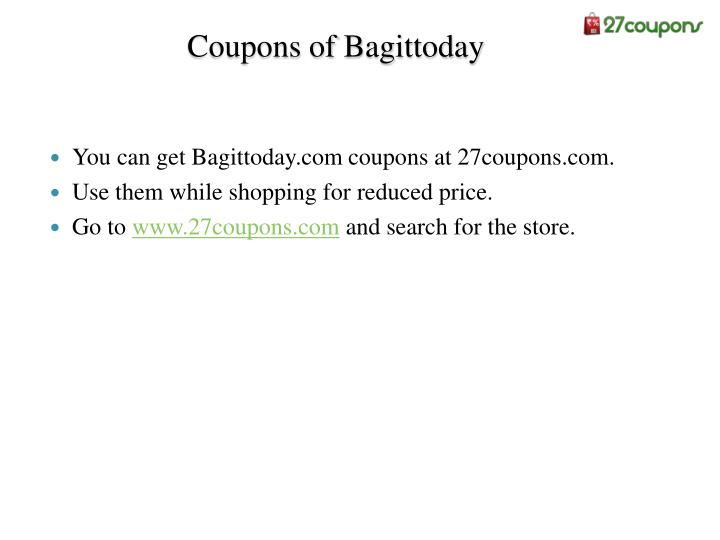 Coupons of bagittoday
