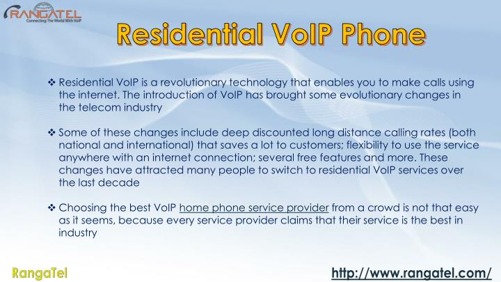Residential VoIP Phone