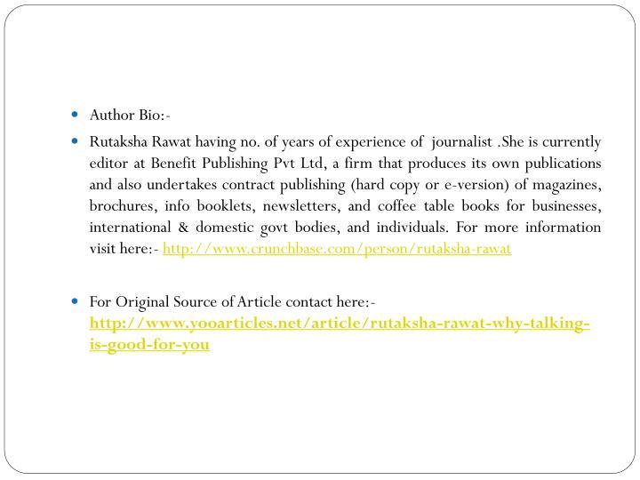 Author Bio:-
