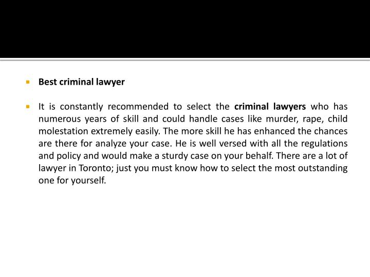 Best criminal lawyer