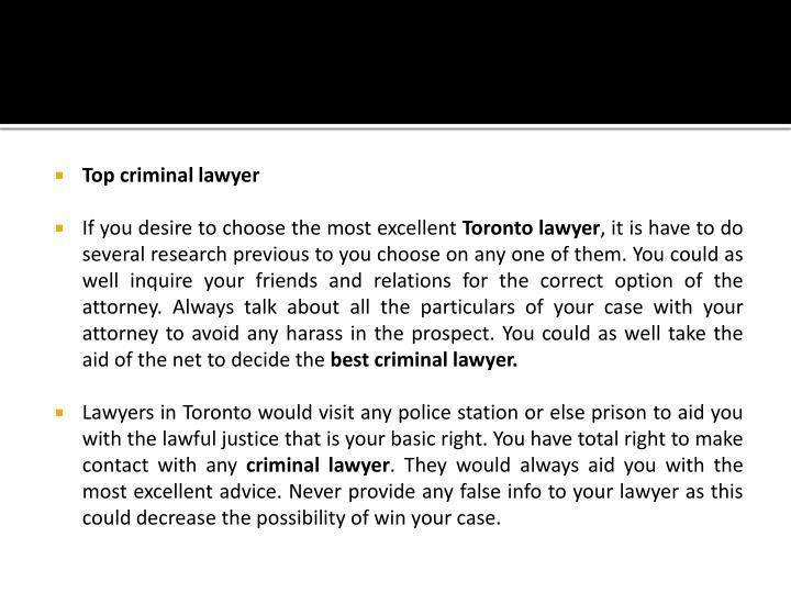 Top criminal