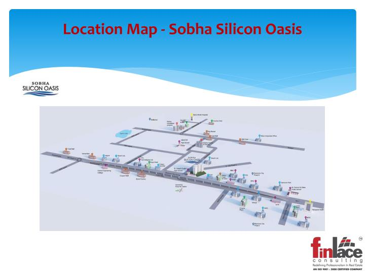 Location map sobha silicon oasis