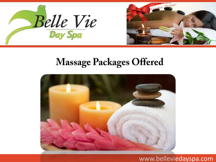 Massage Packages Offered