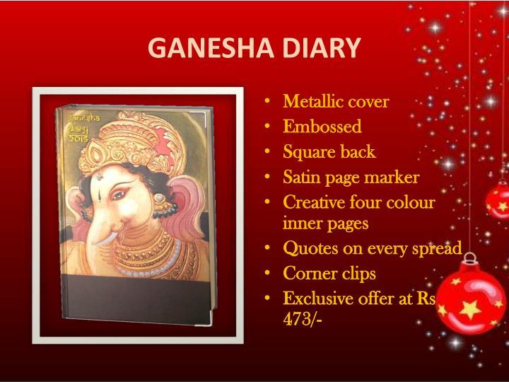 GANESHA DIARY
