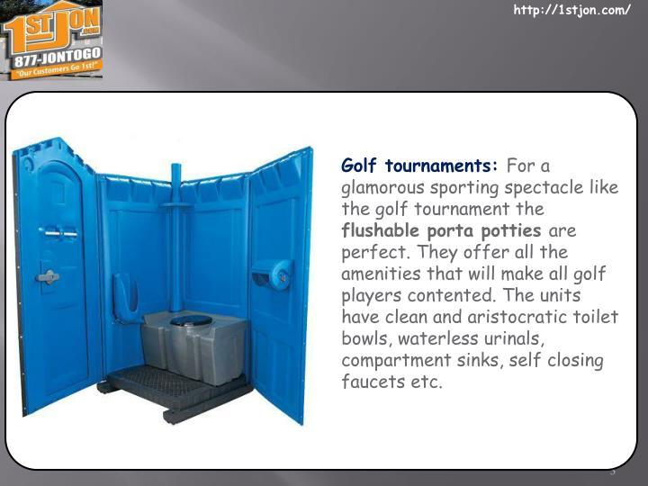 Golf tournaments: