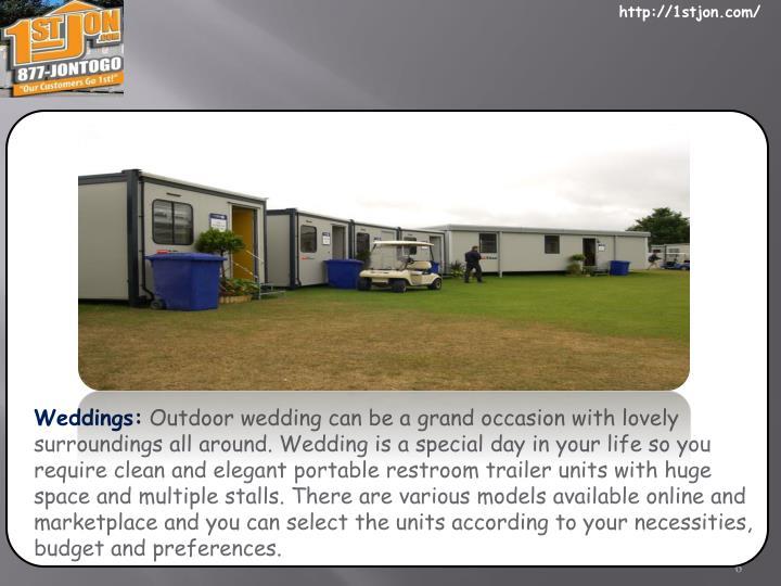 Weddings: