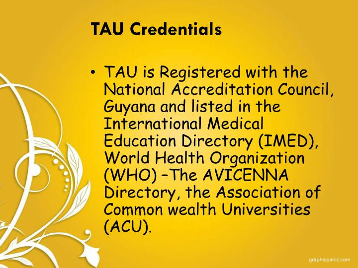 TAU Credentials