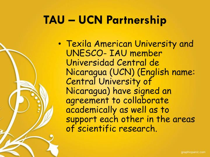 TAU – UCN Partnership