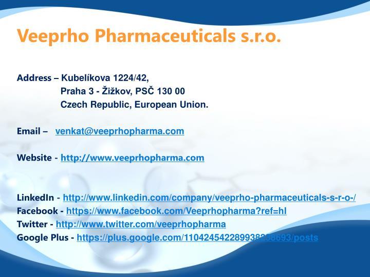Veeprho Pharmaceuticals s.r.o.